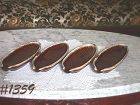 McCOY POTTERY -- BROWN DRIP CORN HOLDERS (4)