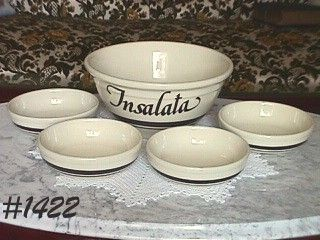 McCOY POTTERY -- PASTA LINE SALAD SET (5 PIECES)