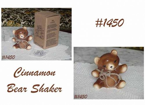 McCOY POTTERY -- CINNAMON BEAR SHAKER (MIB)