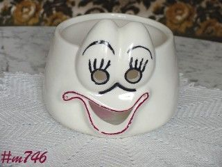 VINTAGE POTTERY UNGEMACH GHOST BOWL