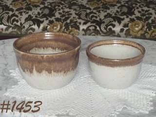 McCOY POTTERY -- SET OF 2 GRAYSTONE MIXING BOWLS