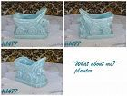 """McCOY POTTERY -- """"WHAT ABOUT ME?"""" PLANTER (BLUE)"""