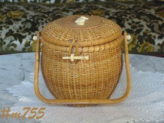 VINTAGE REPRODUCTION NANTUCKET BASKET HANDBAG