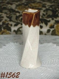 "McCOY POTTERY FLORALINE TWIST BUD VASE 6 1/2"" TALL"
