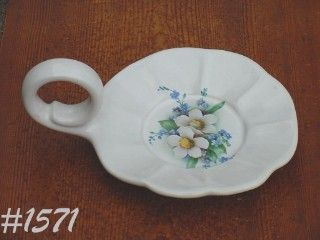 McCOY POTTERY -- FLORAL COUNTRY CANDLEHOLDER