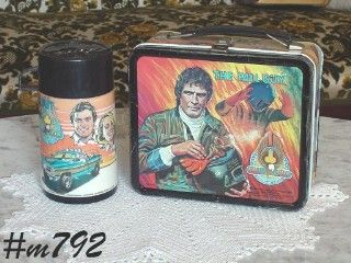VINTAGE THE FALL GUY LUNCHBOX AND THERMOS
