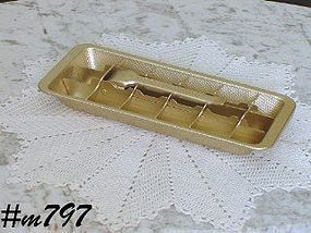 ALUMINUMWARE -- VINTAGE GOLD COLOR WESTINGHOUSE ALUMINUM ICE TRAY