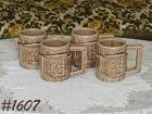 McCOY POTTERY -- SET OF 4 WESTERN WARE MUGS