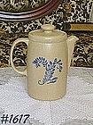 McCOY POTTERY -- BLUE FIELD COFFEE SERVER