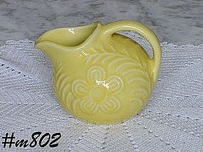 SHAWNEE POTTERY -- FLOWERS AND FERN CREAMER (YELLOW)