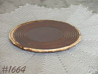 McCOY POTTERY -- BROWN DRIP TRIVET