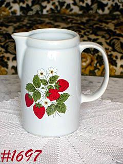 McCOY POTTERY -- STRAWBERRY COUNTRY PITCHER