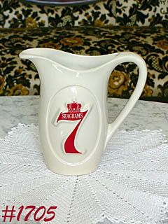 McCOY POTTERY -- SEAGRAM'S 7 ADVERTISING PITCHER