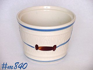 "SHAWNEE POTTERY -- ""OAK BUCKET"" UTILITY JAR"