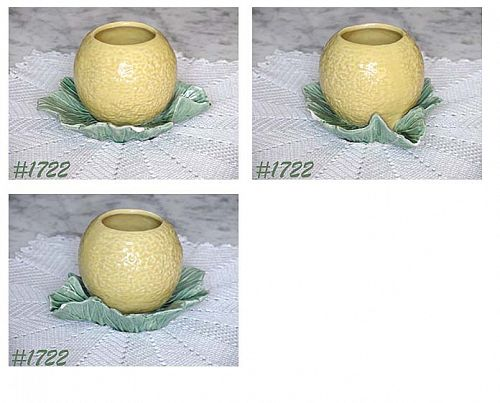 McCOY POTTERY -- ORANGE ON LEAF PLANTER