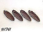 McCOY POTTERY -- BROWN DRIP CORN PLATES (4)