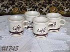 McCOY POTTERY -- PASTA CORNER CAFFE' CUPS (4)