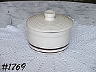 McCOY POTTERY -- STONECRAFT BROWN STRIPE COVERED MARGARINE CONTAINER