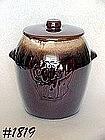 McCOY POTTERY -- BROWN DRIP COOKIE JAR