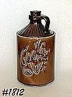 McCOY POTTERY -- BROWN COOKIE JUG COOKIE JAR