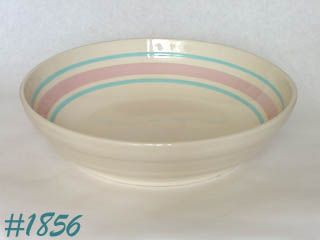 McCOY POTTERY -- STONECRAFT PINK & BLUE SPAGHETTI BOWL