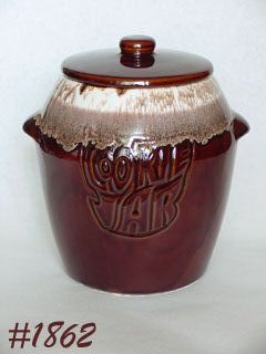 McCOY POTTERY -- BROWN DRIP COOKIE JAR
