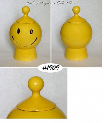 McCOY POTTERY SMILEY HAPPY FACE SMILE COOKIE JAR