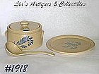 McCOY POTTERY -- BLUEFIELD TUREEN, LADLE, & UNDERPLATE
