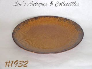 McCOY POTTERY -- CANYON CHOP PLATE