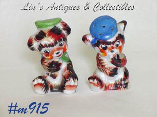 CALICO BEARS SALT AND PEPPER SHAKER SET