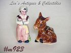 VINTAGE GENIE AND DONKEY SALT AND PEPPER SHAKER SET