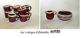 McCOY POTTERY -- BROWN DRIP DINNERWARE ITEMS