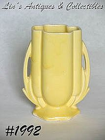 "McCOY POTTERY -- YELLOW VASE (5 5/8"")"