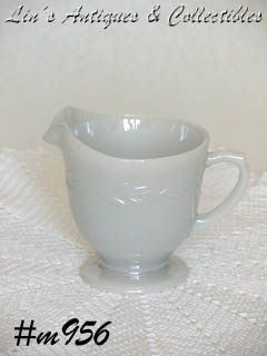 FIRE-KING -- VINTAGE GRAY LAUREL CREAMER