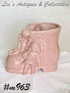SHAWNEE POTTERY OLD LADY IN THE SHOE VINTAGE PLANTER