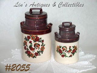 McCOY POTTERY -- YORKVILLE CANISTERS (2)