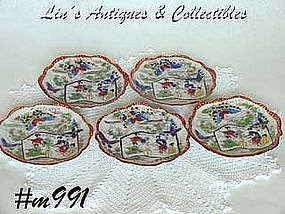 GEISHA GIRL FANCY SAUCERS (5)