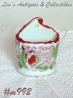 GEISHA GIRL PORCELAIN MATCH HOLDER