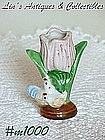 OCCUPIED JAPAN -- TULIP WITH CHICKENS MINI VASE