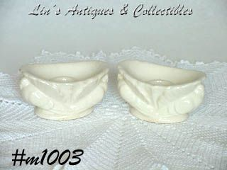 OCCUPIED JAPAN -- TURKEY CANDLEHOLDER PAIR (WHITE)
