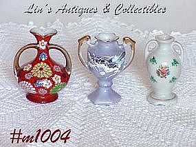 OCCUPIED JAPAN -- 3 MINI VASES