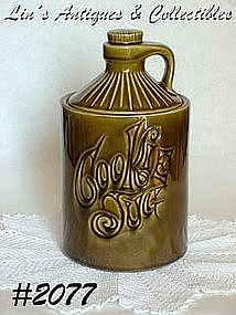 McCOY POTTERY -- GREEN COOKIE JUG COOKIE JAR