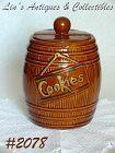 McCOY POTTERY -- BARREL COOKIE JAR (SMALL)