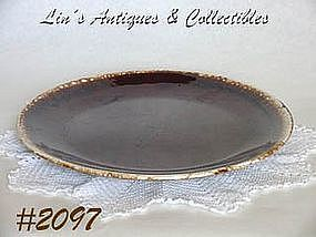 McCOY POTTERY -- BROWN DRIP CHOP PLATE (CHARGER)
