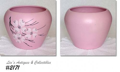 McCOY POTTERY SPRING WOOD PINK 7 3/4 INCHES TALL JARDINIERE