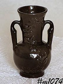 SHAWNEE POTTERY -- CHAIN OF FLOWERS VASE (BLACK!)