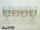 SET 0F 4 HOLLY STEMWARE
