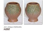 McCOY POTTERY -- LEAVES WITH BERRIES VASE