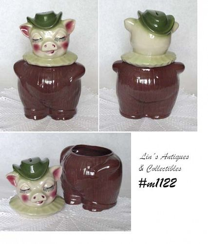 SHAWNEE POTTERY COOKIE JAR AND BANK