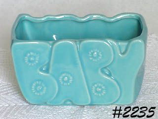 "McCOY POTTERY -- ""BABY"" PLANTER (BLUE)"